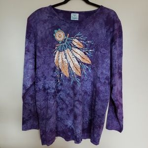 Vintage // native american design long sleeve